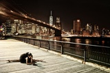 A Classic Ballerina Dances in Brooklyn Bridge Park Photographic Print by Kike Calvo