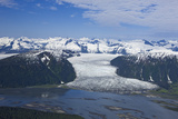 Aerial View of Taku River and Hole in the Wall Glacier, Inside Passage, Alaska Photographic Print by  Design Pics Inc