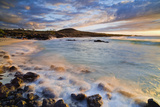 Kua Bay Beach Park at Sunset; Big Island, Hawaii, United States of America Reproduction photographique par  Design Pics Inc