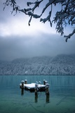 Snowy Dock Floating in Lake; Bellingham,Washington,USA Photographic Print by  Design Pics Inc