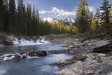 Waterfall on Sheep River; Kananaskis, Alberta, Canada Photographic Print by  Design Pics Inc
