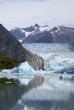 Sea Kayaker Near S.Sawyer Glacier Tracy Arm Se Ak Summer Fords-Terror Wilderness Area Photographic Print by  Design Pics Inc