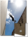 Parkour Practitioner Jumps a Building Gap in Adelaide, Sa Posters by Brooke Whatnall
