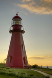 Red Lighthouse at Sunset; La Martre Quebec Canada Photographic Print by  Design Pics Inc