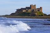Design Pics Inc - View from Ocean of Bamburgh Castle Fotografická reprodukce