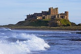 View from Ocean of Bamburgh Castle Photographic Print by  Design Pics Inc