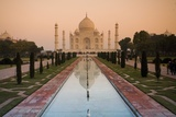 View of Taj Mahal Reflecting in Pond; Taj Mahal, Agra, India Photographic Print by  Design Pics Inc