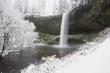 Waterfall in Winter Photographic Print by  Design Pics Inc