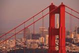 Design Pics Inc - View from Golden Gate National Recreation Area Golden Gate Bridge with City of San Francisco Fotografická reprodukce