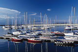 Sailboats Moored in Harbor Marina Photographic Print by  Design Pics Inc