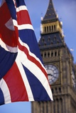 Union Flag and Big Ben Photographic Print by  Design Pics Inc