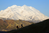 Two Hikers View Mckinley at Grassy Pass Near Eielson Visitor Center Summer Denali National Park Photographic Print by  Design Pics Inc
