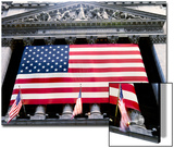 The facade of the New York Stock Exchange draped in the American Flag Prints by  Unknown