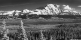 Infrared Panorama of Denali and the Alaska Range Taken from Near the Wonder Lake Campground Photographic Print by  Design Pics Inc
