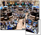 An high angle view of the New York Stock Exchange's trading floor Posters by  Unknown