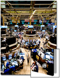 An high angle view of the New York Stock Exchange's trading floor Prints by  Unknown