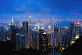 Design Pics Inc - Victoria Peak, Hong Kong Island, China, Asia Fotografická reprodukce