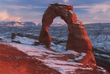 Delicate Arch at Sunset in Winter in Arches National Park; Utah, USA Photographic Print by  Design Pics Inc