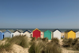 Traditional Beach Huts in the Sand Dunes at Southwold, Suffolk, Uk David Potter Photographic Print by  Design Pics Inc