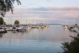 Boats in the Harbour at Sunset; Thunder Bay, Ontario, Canada Photographic Print by  Design Pics Inc