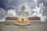 Low Angle View of Buddha and Temple; Phra Buddhasurintaramongkol, Isan, Thailand Photographic Print by  Design Pics Inc