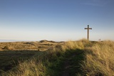 Cross on a Hill Overlooking Valley, Alnmouth, Northumberland, England Photographic Print by  Design Pics Inc