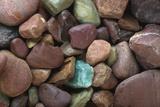 Close-Up Pattern of River Rocks Alaska Photographic Print by  Design Pics Inc