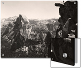 A Small Figure Contrasts Against Yosemite Valley and Half Dome Print by  Yosemite Park and Amp Curry Co