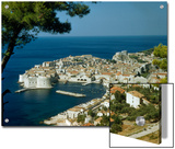 Scenic View of Dubrovnik Harbor and the Adriatic Sea Print by Volkmar K. Wentzel
