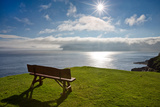 An Empty Bench Overlooks the North Atlantic Photographic Print by Karine Aigner
