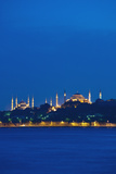 Sultanahmet or Blue Mosque and Hagia Sofia at Dusk Photographic Print by  Design Pics Inc