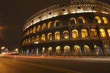 Night Lights of the Colosseum; Rome Lazio Italy Photographic Print by  Design Pics Inc