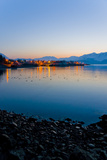 Sunrise over the Lights of Seward Photographic Print by  Design Pics Inc