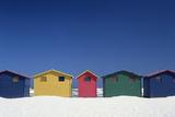 Colourful Beach Huts in Cape Town Fotodruck von  Design Pics Inc