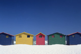 Colourful Beach Huts in Cape Town Photographic Print by  Design Pics Inc