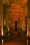 Basilica Cistern, Istanbul, Turkey; Ancient Underground Cistern Papier Photo par  Design Pics Inc