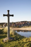 Cross on a Hill Overlooking Town; Alnmouth, Northumberland, England Photographic Print by  Design Pics Inc