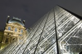 The Glass Pyramid and the Louvre at Dusk Photographic Print by  Design Pics Inc