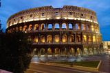 Europe, Italy, Rome, Colosseum Dusk Photographic Print by  Design Pics Inc