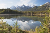 Banff National Park, Alberta, Canada; Mountains Reflected in a Lake in Late Summer Photographic Print by  Design Pics Inc