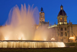 City Hall and Fountain at Dusk Photographic Print by  Design Pics Inc