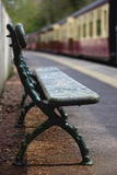 Bench on Train Platform; Yorkshire,England Photographic Print by  Design Pics Inc