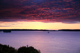 The Sun Rises over the Calendar Islands in Casco Bay Photographic Print by Robbie George