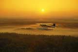 Floatplane Flying at Sunset Matanuska Valley Sc Ak Summer Photographic Print by  Design Pics Inc