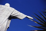 Christ the Redeemer and Palm Leaves Photographic Print by  Design Pics Inc