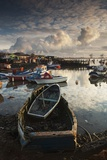 Boats Moored Along the Shoreline; Saltburn, Teesside, England Photographic Print by  Design Pics Inc