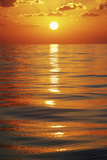 Sunset over Ocean Horizon Photographic Print by  Design Pics Inc