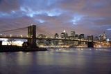 Brooklyn Bridge and Lower Manhattan at Dusk Photographic Print by  Design Pics Inc