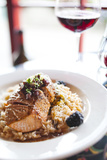 A Salmon Dish Served at the Bella Italia Restaurant in Port Angeles Fotoprint van Michael Hanson