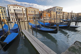 Gondolas Moored on the Grand Canal; Venice Italy Photographic Print by  Design Pics Inc